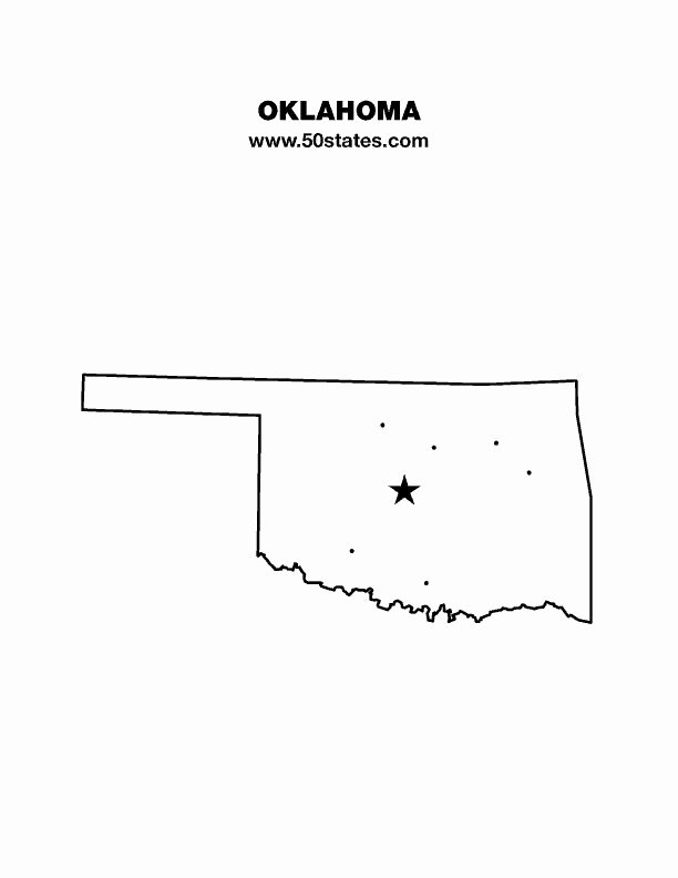 Blank City Map Template Unique Oklahoma Blank Outline Map Other States too