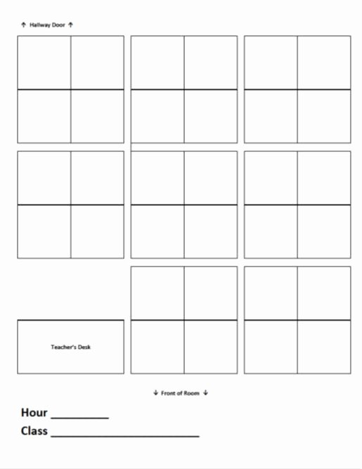 Blank Classroom Seating Chart Awesome 16 Of Seating Chart Template Blank