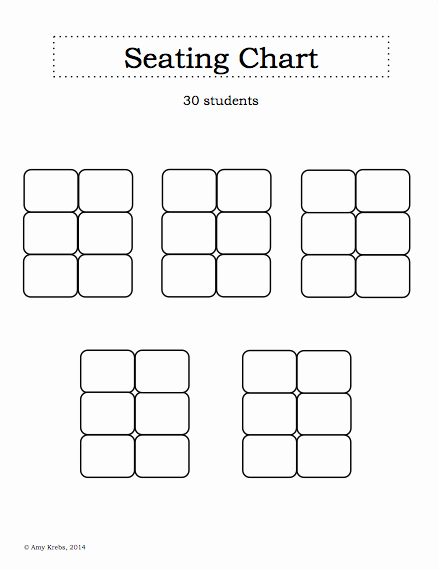 Blank Classroom Seating Chart Best Of Inspiration for Education Getting organized with A