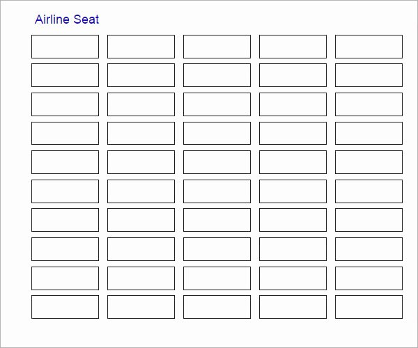 Blank Classroom Seating Chart Best Of Sample Seating Chart Template 16 Free Documents In Pdf