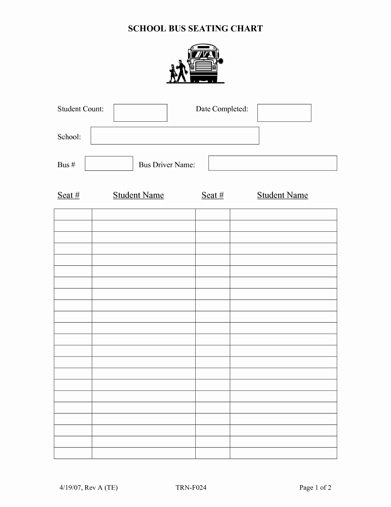 Blank Classroom Seating Chart Lovely Best S Of Blank Charts for Student Names Teacher