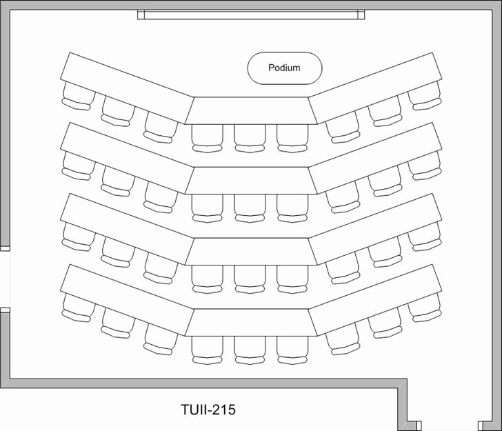 Blank Classroom Seating Chart Lovely University Of Houston Law Center Room Reservation