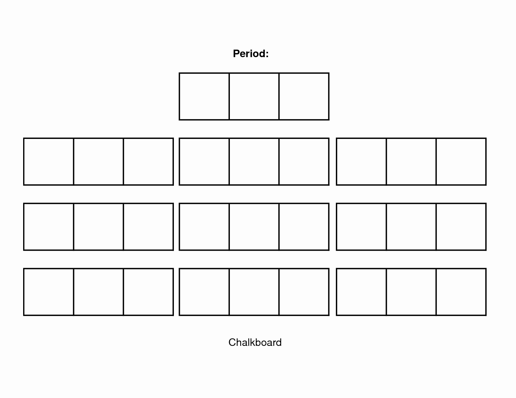 Blank Classroom Seating Chart Unique Classroom Seating Chart Template