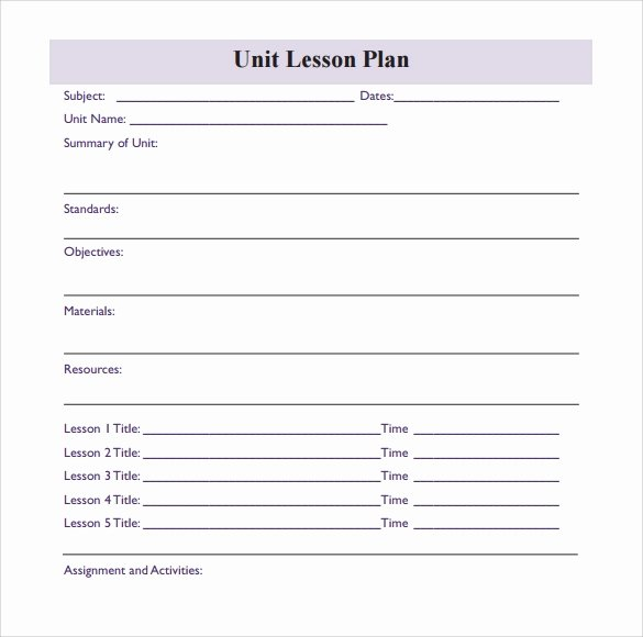 Blank Lesson Plan Template Beautiful 11 Sample Blank Lesson Plans