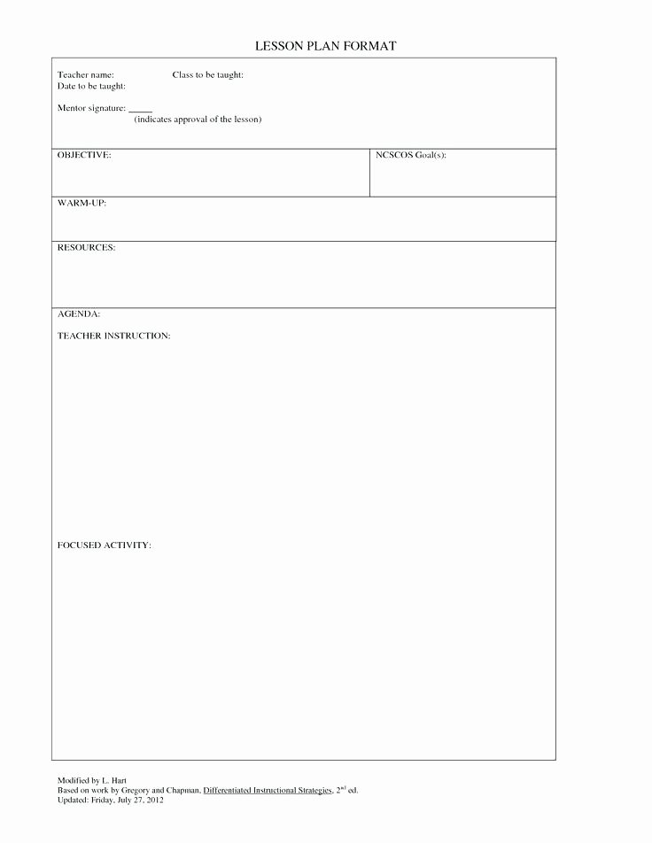 Blank Lesson Plan Template Doc Luxury Class Lesson Plan Template – Carpatyfo