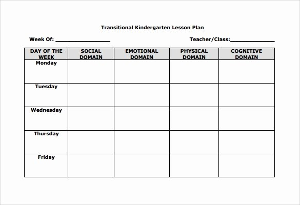 Blank Lesson Plan Template Free Unique 11 Sample Blank Lesson Plans