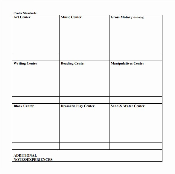 Blank Lesson Plan Template Lovely Sample toddler Lesson Plan 9 Example format