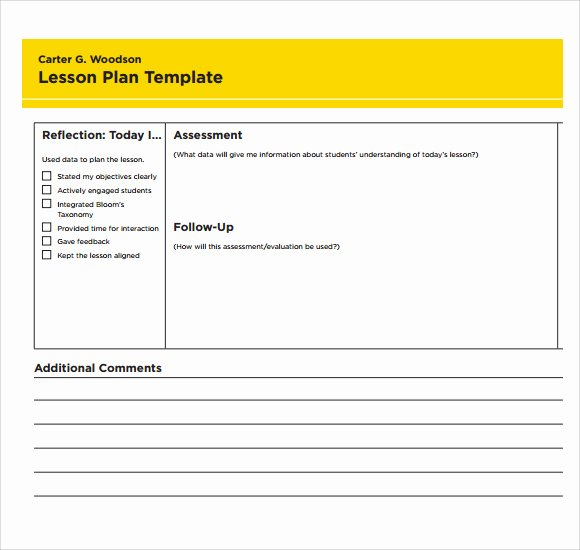 Blank Lesson Plan Template Pdf Fresh 7 Printable Lesson Plan Templates to Download