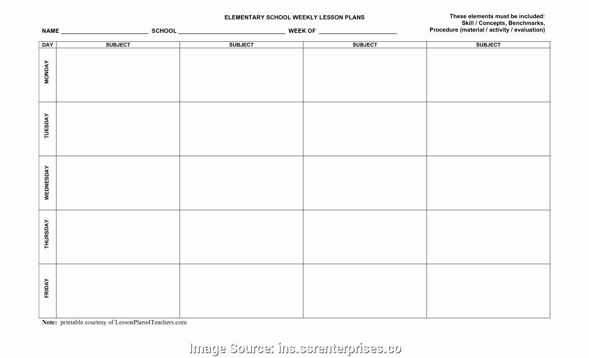 Blank Lesson Plan Template Pdf Luxury Editable Blank Lesson Plan Template