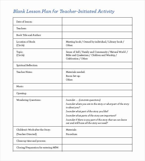 Blank Lesson Plan Template Pdf Unique 59 Lesson Plan Templates Pdf Doc Excel
