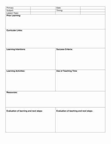 Blank Lesson Plan Template Unique Blank 8 Step Lesson Plan Template by Kristopherc