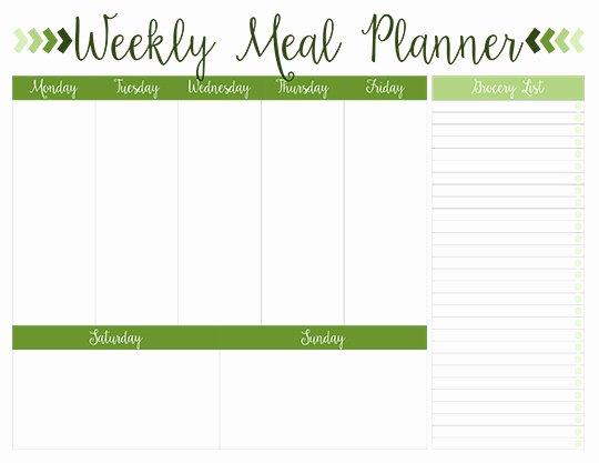 Blank Meal Plan Template Fresh Printable Weekly Meal Planners Free