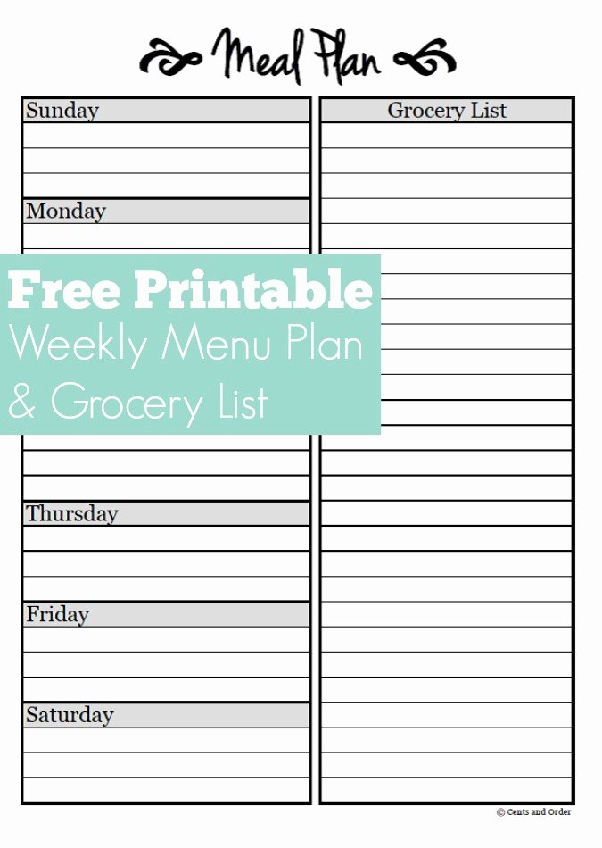 Blank Meal Plan Template Inspirational Meal Planning Free Weekly Menu Planner Printable
