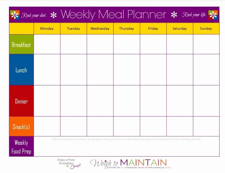 Blank Meal Plan Template New 21 Day Fix Blank Calendar Printable Free Calendar Template