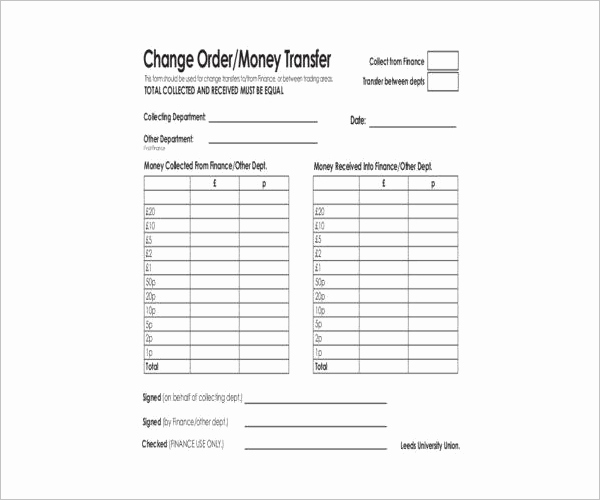 Blank Money order Template New 12 Money order forms Free Pdf Download formats
