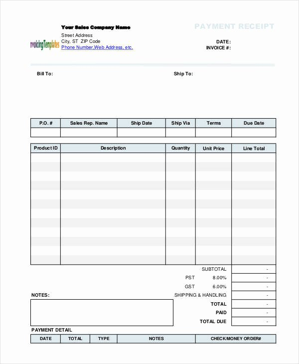 Blank Money order Template Unique 10 Blank Receipt Templates – Examples In Word Pdf
