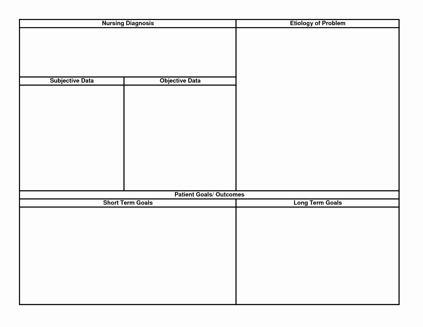 Blank Nursing Care Plan Template Best Of 15 Best Of Printable Nursing Worksheets Printable