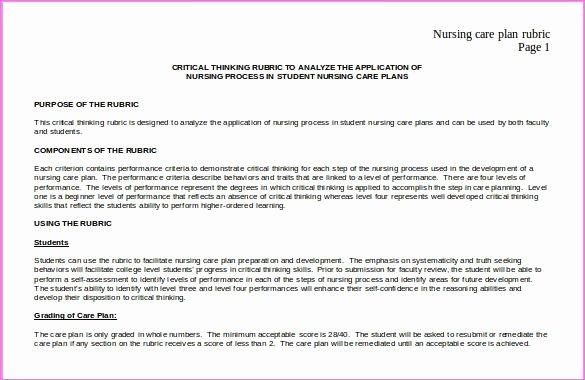 Blank Nursing Care Plan Template Elegant Nursing Care Plan Template Free Download