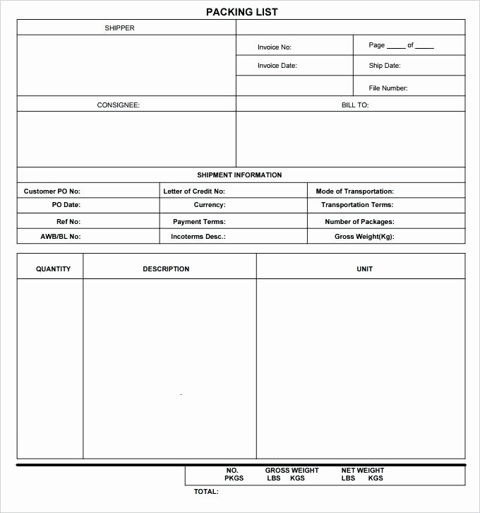 Blank Packing List Template Elegant Packing Checklist Template – Buildbreaklearn