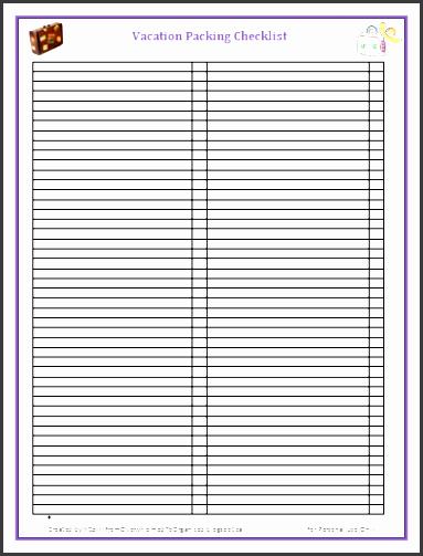 Blank Packing List Template Inspirational 6 Packing Checklist Template Sampletemplatess