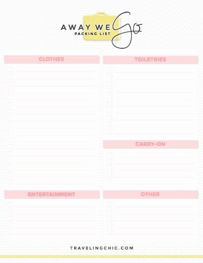 Blank Packing List Template New Free Packing Guides In 2019 What to Pack