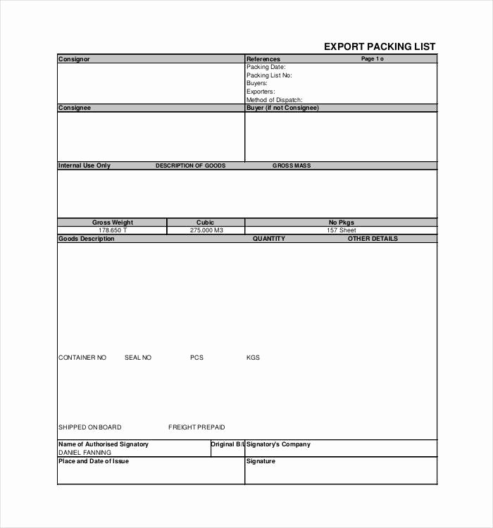 Blank Packing List Template Unique 24 Packing List Templates Pdf Doc Excel