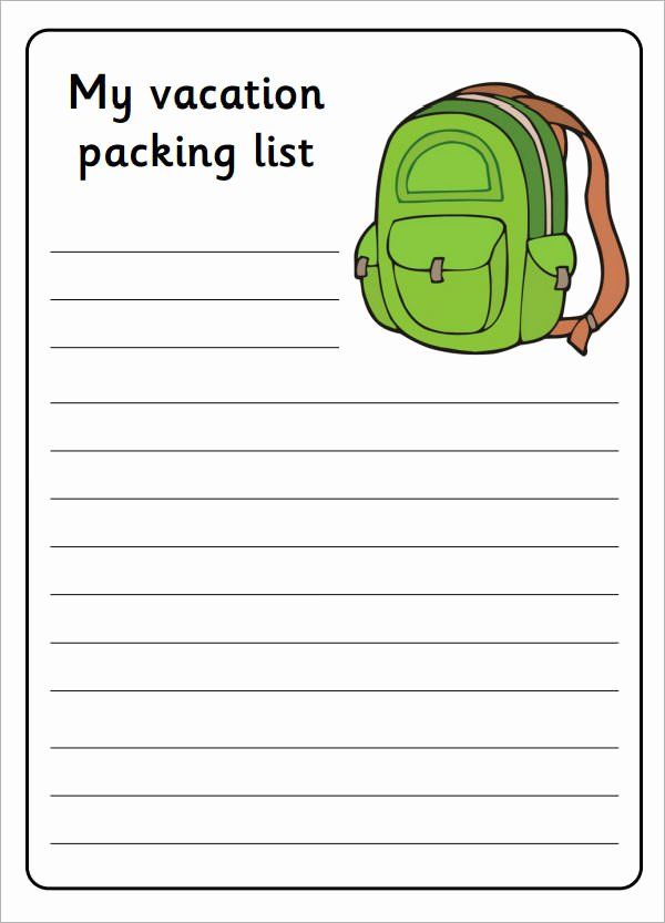 Blank Packing List Template Unique 7 Packing List Templates