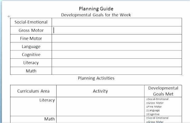 Blank Preschool Lesson Plan Template Inspirational Kindergarten Curriculum Template Blank Preschool Map