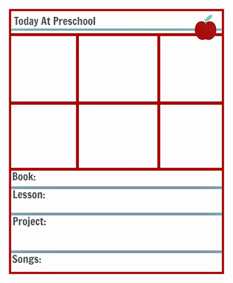 Blank toddler Lesson Plan Template Elegant Preschool Lesson Planning Template Free Printables No