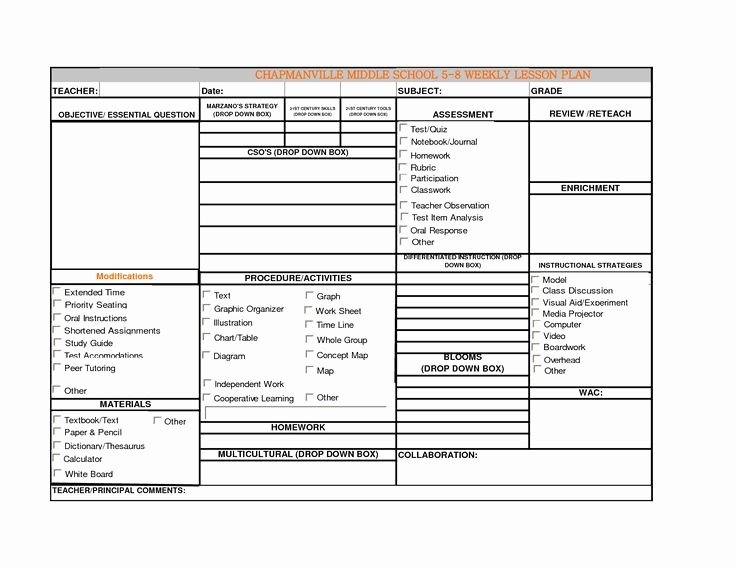 Blank Weekly Lesson Plan Template Awesome Best 25 Blank Lesson Plan Template Ideas On Pinterest