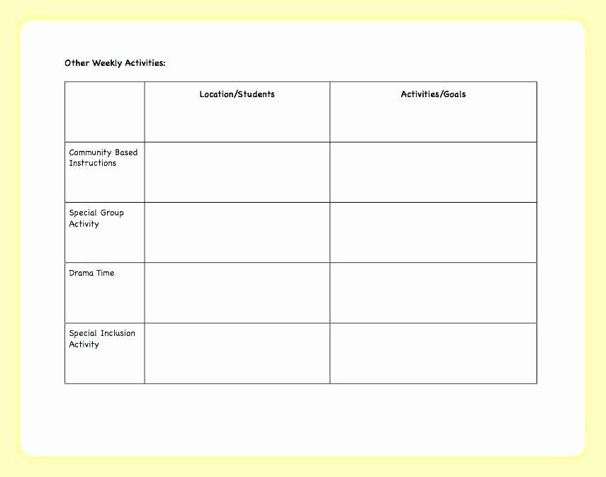 Block Lesson Plan Template Elegant Child Observation Chart Child Observation Chart 1 Autism