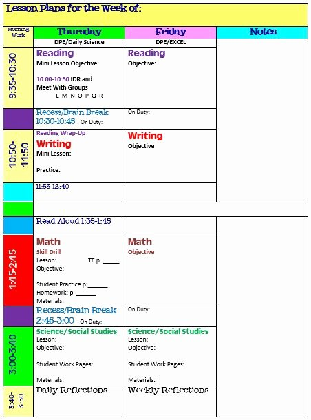 Block Lesson Plan Template New Simplify Your Life with An All In E Teacher organizer