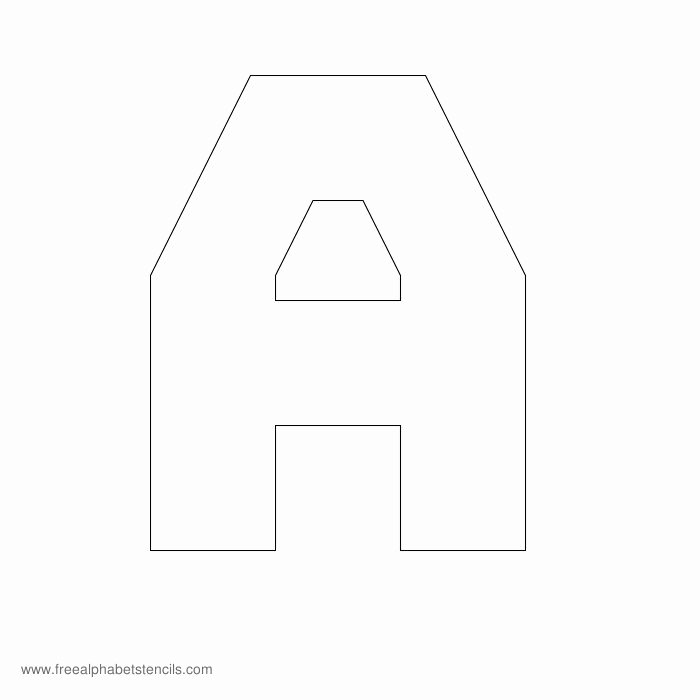 Block Letter Template Free Awesome Free Printable Stencils for Alphabet Letters Numbers