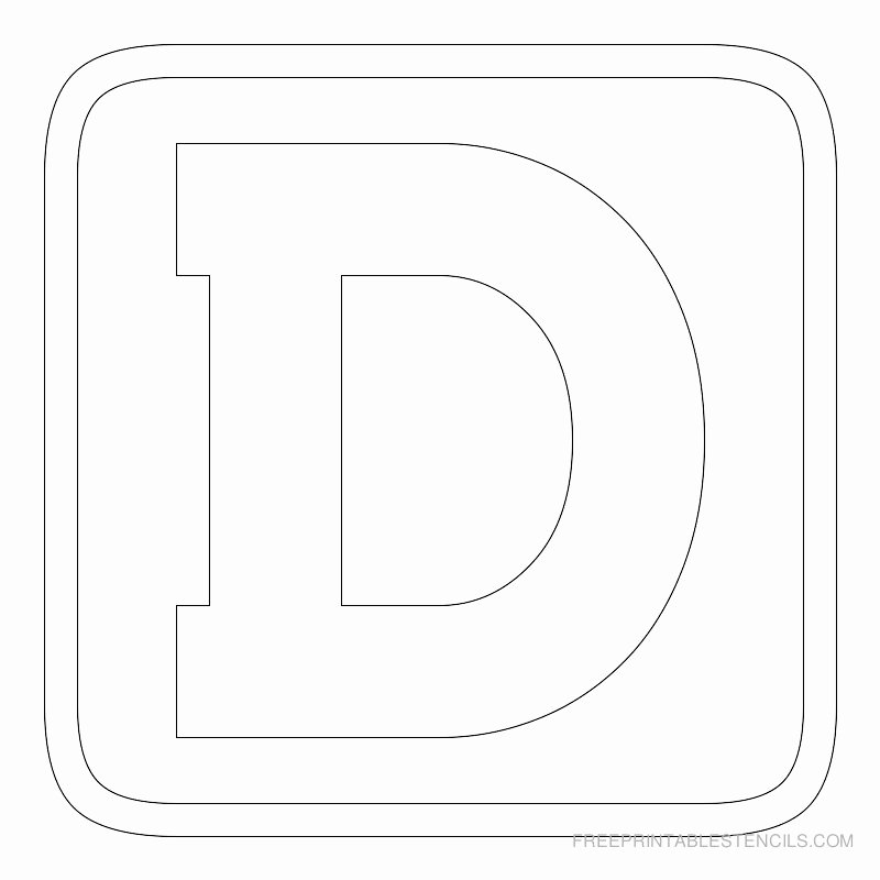 Block Letter Template Free Awesome Printable Block Letter Stencils