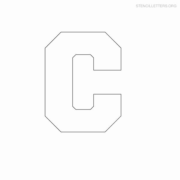 Block Letter Template Free Beautiful Print Free Stencil Letters C
