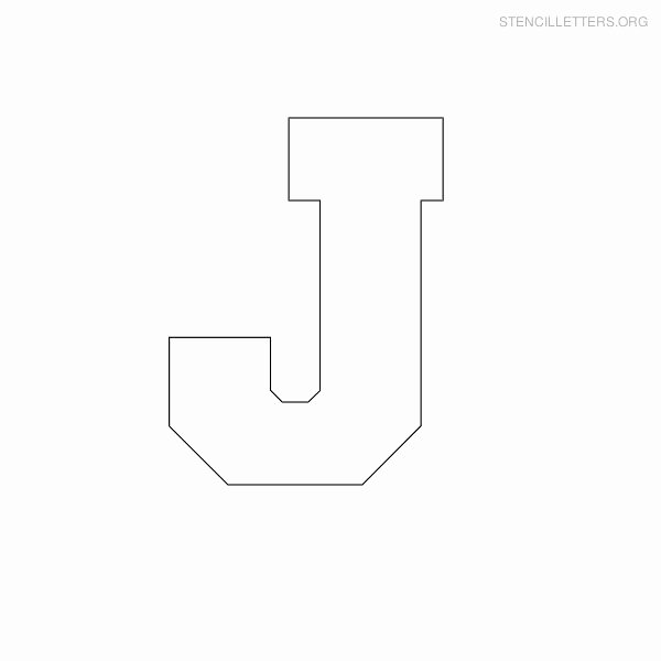 Block Letter Template Free Best Of Stencil Letters J Printable Free J Stencils