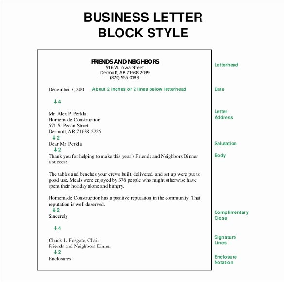 Block Letter Template Free Elegant 50 Business Letter Templates Pdf Doc