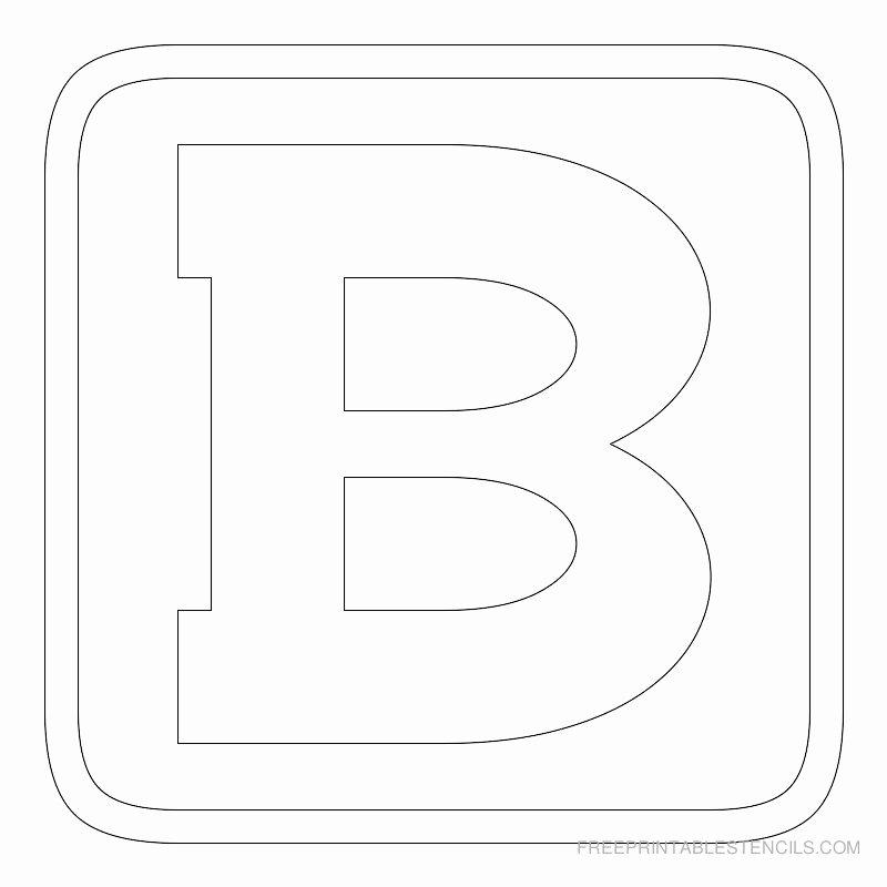 Block Letter Template Free Elegant Printable Block Letter Stencils