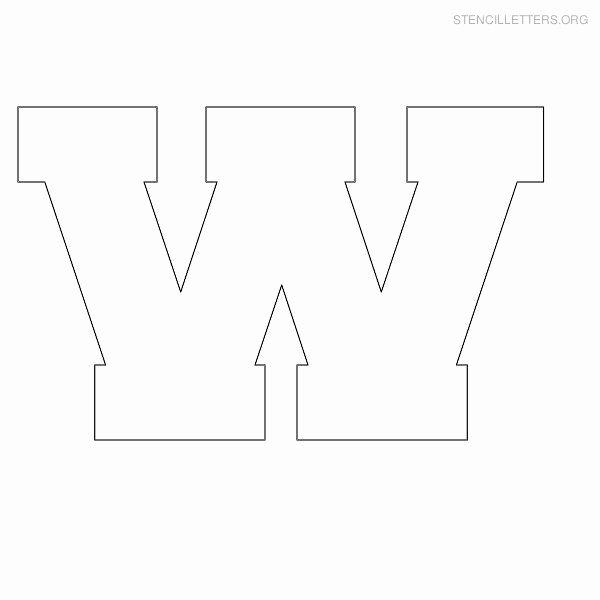 Block Letter Template Free Inspirational Stencil Letter Block W