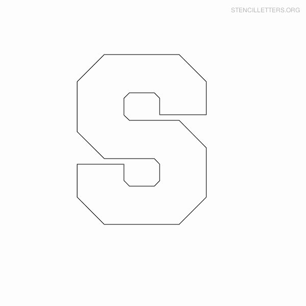 Block Letter Template Free Inspirational Stencil Letters S Printable Free S Stencils