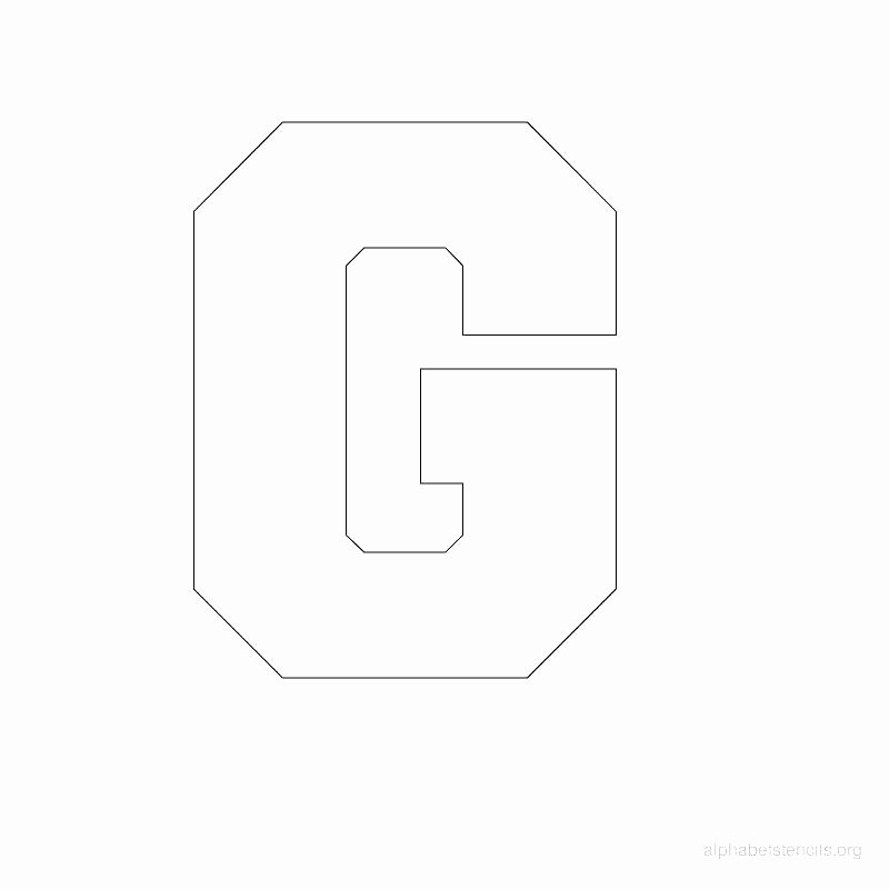 Block Letter Template Free Lovely Alphabet Stencil Template