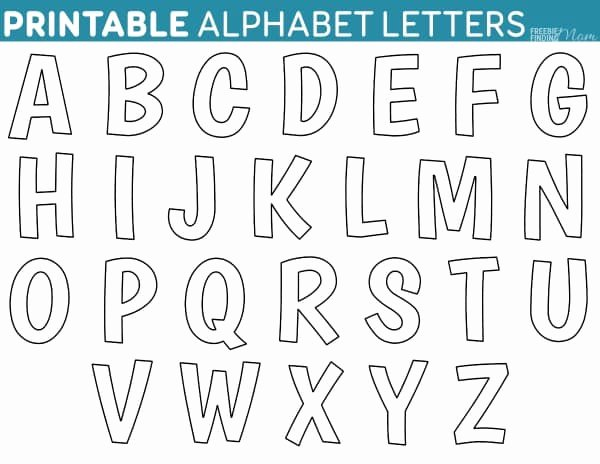 Block Letter Templates for Bulletin Boards Lovely Printable Free Alphabet Templates