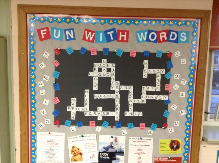scrabble bulletin boards