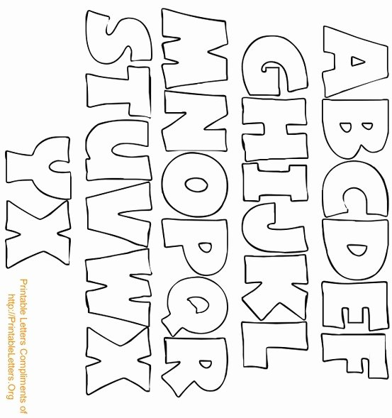 Block Letter Templates for Bulletin Boards New Alphabet Bubble Letters Art Worksheet