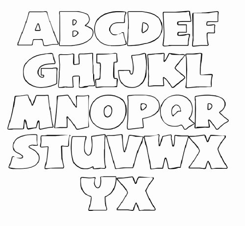 Block Letter Templates for Bulletin Boards New Big Printable Bubble Letters