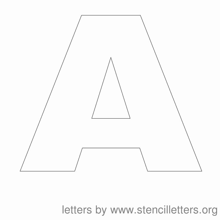 Block Letter Templates for Bulletin Boards New Free Printable Letter Stencils