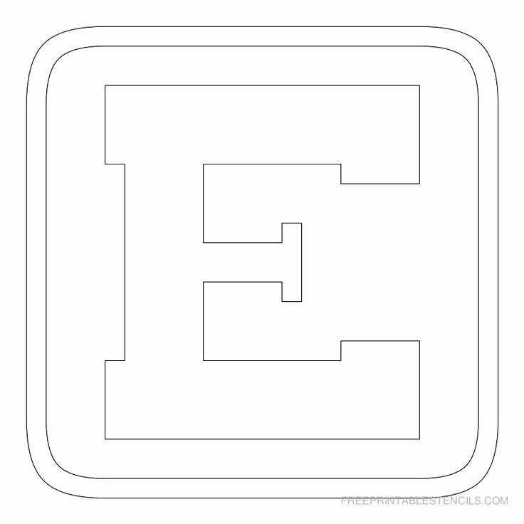 Block Letter Templates for Bulletin Boards New Printable Block Letter Stencils