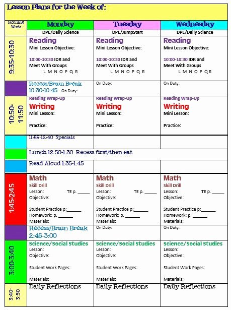 Block Scheduling Lesson Plan Template Awesome Best 10 Lesson Plan Templates Ideas On Pinterest
