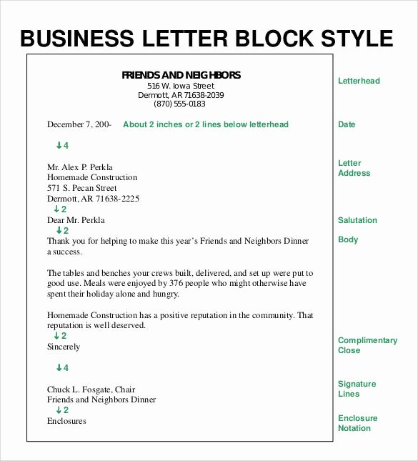 Blocked Style Letter format Elegant formal Business Letter format 29 Download Free