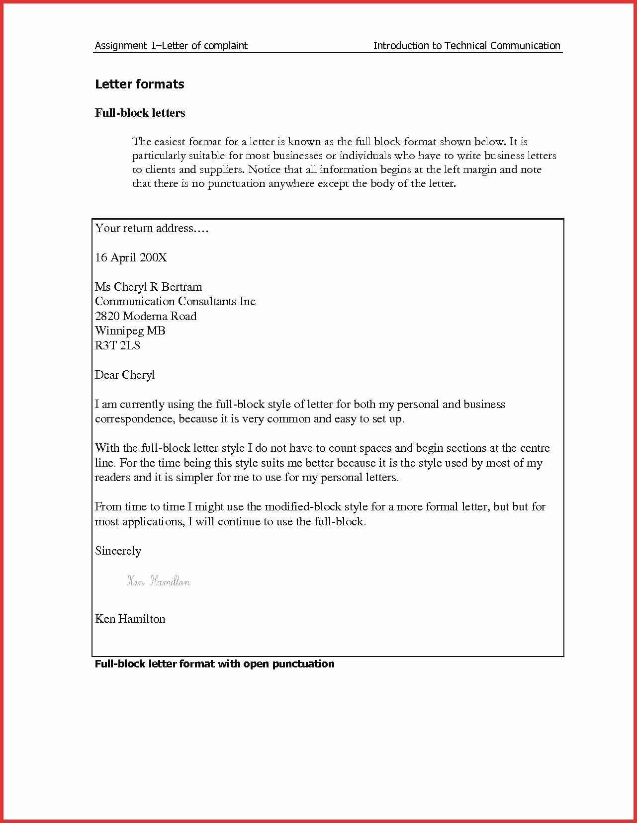 Blocked Style Letter format Lovely Business Letter Full Block Image Collections Download Cv